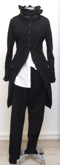 rundholz - Hose Lang Wool Cotton black - Winter 2015 - stilecht - mode für frauen mit format...