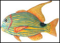 Tropical fish wall decor, Price:$30.95 Prod. Code:K-131-L