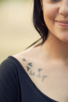 """Let it go"" collar tattoo I think this would be good for me. I have a hard time doing this"