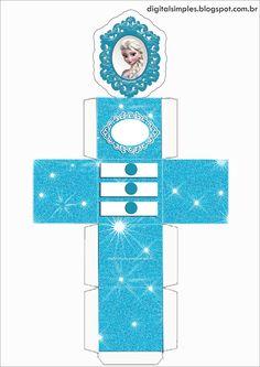 """Festa de Aniversário """"Frozen"""", rótulo caçulinha, latinha, convite, caixinhas...tudo gratuito para imprimir ."""