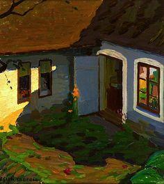 ELLEN TROTZIG (1878-1949) Courtyard Interior