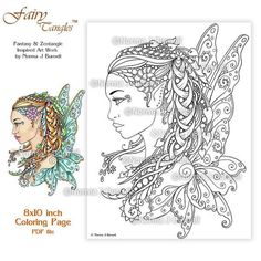 Title: A Fairy Download includes one 8x10 inch PDF file and one 8x10 inch JPG file First purchase the coloring page! Print, color and enjoy your creation. You may resize it to your needs. PRINTING RECOMMENDATIONS Files are high resolution printable images at 300 dpi. For best results print on a photo setting. I also recommend using a Bristol paper or matte art paper, which you can find at your local arts/crafts store or card stock. Note: check your printer settings to make sure it ca...