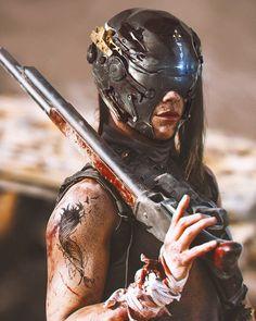 New Sci Fi Concept Art Post Apocalyptic Armors Ideas Cyberpunk Girl, Cyberpunk Character, Cyberpunk 2077, Character Concept, Character Art, Concept Art, Character Design, Shadowrun Rpg, 3d Figures