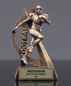 Show details for Football Ultra Action Resin Football Banquet, Football Trophies, Banquet Decorations, Custom Engraving, Bronze Finish, Bookends, Resin, Action