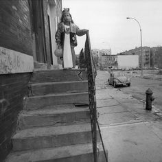 When @angelfranco_nyt photographed Guissette Muniz outside her grandmothers house in the Bronx on #Halloween in 1991 she looked like a 6-year-old princess surveying a kingdom in ruins. Empty lots cracked sidewalks and dirty streets surrounded her in her familys neighborhood #Bronx Park South. Not another soul was visible. Guissette was indeed scared  but not by her surroundings. My uncle was inside wearing a Chucky mask she recalled six years ago in a conversation with @nytimes reporter…