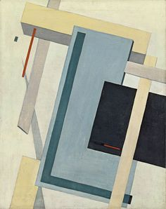 Proun 4 B  Fecha: 1919-1920  Técnica: Óleo sobre lienzo.  Medidas: 70 x 55,5 cm  Úbicacion: Museo Thyssen-Bornemisza, Madrid