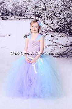 Frozen Inspired Princess Tutu Dress - Birthday Outfit, Photo Prop, Halloween Costume - 12M 2T 3T 4T 5T 6 7 8 10 12 - Disney Elsa Inspired