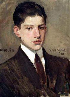 JOAQUÍN SOROLLA: portrait of his son, Joaquín Sorolla y García