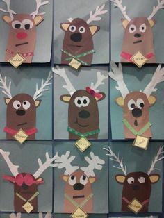 Reindeer art - Schule (Einschulung ) - - New Ideas Winter Christmas, Kids Christmas, Christmas Crafts, Holiday, Diy Crafts To Do, Crafts For Kids, Natal Diy, Reindeer Craft, Theme Noel