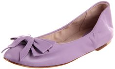 """Ayva"" ballet flats in lavender purple with bow from Bloch."
