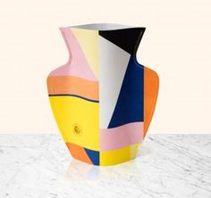 Bazaar Paper Flower Vase