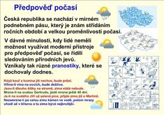 POČASÍ A PODNEBÍ :: Béčko-Tc Czech Republic, Montessori, Periodic Table, Words, Periodic Table Chart, Periotic Table, Bohemia, Horse
