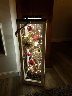 Home Lanterns handicraft Christmas Day Christmas lights Christmas tree Lighting Christmas ornament Outside Christmas Decorations, Christmas Porch, Noel Christmas, Christmas Centerpieces, Outdoor Christmas, Simple Christmas, Christmas Lights, Christmas Wreaths, Christmas Crafts