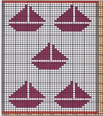 Potholder Sailing Ships 3 pattern by Regina Schoenfeldt , - Topflappen Sitricken Filet Crochet Charts, Knitting Charts, Baby Knitting, Knitting Patterns, Swedish Weaving Patterns, Loom Patterns, Yarn Projects, Crochet Projects, Cross Stitch Designs