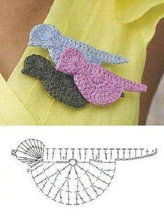 Crochet Bird Motif - Free Crochet Diagram - (manualidadesreciclables)