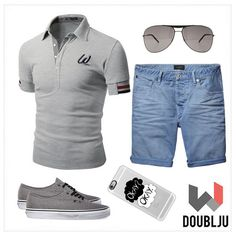 Doublju Mens Casual Short Sleeve Point Polo T-shirt #doublju #doubljumen #fashion #mensstyle  #summerstyle #spring #dailylook