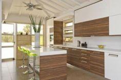 white brown modern kitchen