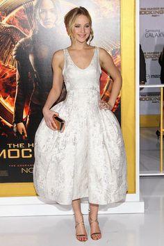 Jennifer Lawrence de Dior (Los Juegos del Hambre, Los Angeles Premiere).