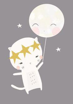 Luna y Gatita by Vicky Riley