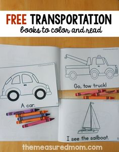 Print these free transportation emergent readers for your early reader! These simple books come in three levels of difficulty. Transportation Theme Preschool, Preschool Themes, Preschool Learning, Preschool Crafts, Learning Activities, Preschool Printables, Preschool Worksheets, Teaching Ideas, Free Printables