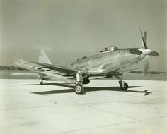 https://flic.kr/p/ac6wZh | Fisher XP-75 Eagle 1 | The Fisher P-75 Eagle was intended to fill the Army Air Forces' 1942 need for an interceptor. Its unique design featured two coaxial contra-rotating propellers connected by dual drive shafts running under the cockpit to a 24-cylinder, liquid-cooled engine located amidships. The original concept called for use of proven airframe components such as P-40 wing panels, A-24 tail, and F4U landing gear--to reduce the design and testing period. The…