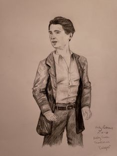A Drawing Of Calogero From Bronx Tale