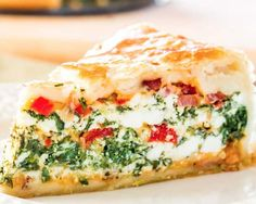 Spenótos ricottás lepény Jo Cooks, Brunch Recipes, Brunch Food, Spinach Ricotta, Feel Good Food, Food Names, Recipe Of The Day, Cheddar, Quiche