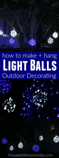 You can make this yourself old tobacco sticks and christmas lights wow your neighbors with these christmas light balls made with just a couple supplies solutioingenieria Images