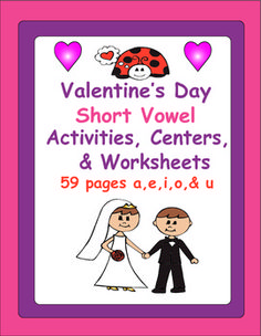 Fun Valentine's Day Activities and Centers  your students will LOVE!   59 pages $5.00