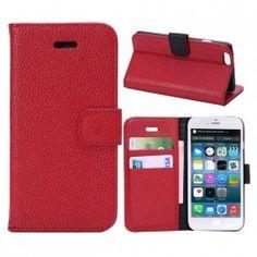 iPhone 6 punainen puhelinlompakko Apple Iphone 6, Bookcase, Bookshelves, Shell