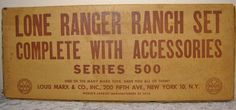 RARE UNASSEMBLED MARX 1940'S LONE RANGER RANCH SET COMPLETE WITH ACCESSORIES #Marx