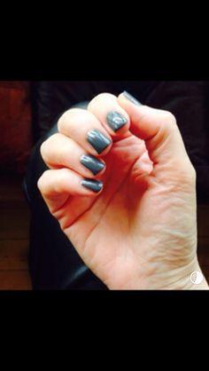 Glossy grey Nail Polish, Grey, Nails, Gray, Finger Nails, Ongles, Nail Polishes, Polish, Nail