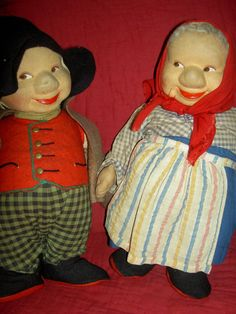 Great Pair Vintage Ronnaug Petterssen Large Cloth Norwegian Gnome Troll Dolls | eBay