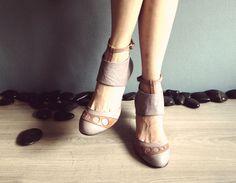 IDYLLE  lilas  frais de port chaussures en cuir par Keymandesign