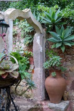Pormenor do jardim da Casa Catita, Algarve.