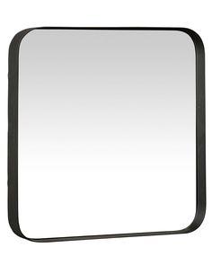 MirrorDeco — Kelly Square Mirror with Black Frame, Medium Garden Bathtub, Diy Bathtub, Black Wall Mirror, Metal Mirror, Mirror Mirror, Turquoise Laundry Rooms, Industrial Mirrors, Industrial Style, Modern Powder Rooms