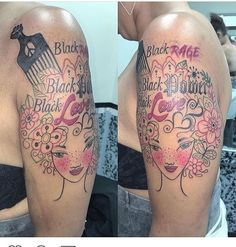 I am in love with this tatt! Dope Tattoos, Girly Tattoos, Body Art Tattoos, Hand Tattoos, Black Girls With Tattoos, Black Tattoos, Piercing Tattoo, I Tattoo, Piercings