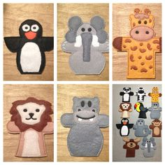 Zoo Animals Felt finger puppets  Set of 11 plus by designbyjmarie, $35.00