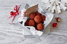 Vegan chocolate and orange truffles