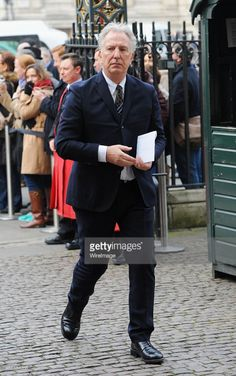 March 17, 2015 - Alan Rickman arriving at the memorial service for the late Lord Attenbourough at Westminster Abbey in London