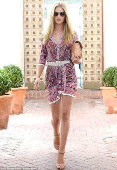 Rosie Huntington Whiteley street style