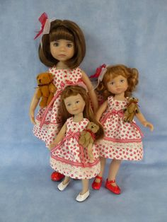 "Sister Dress for Effner 13"" Little Darling Doll made by Apple"