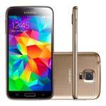 Point Shopping - Smartphone Galaxy S5 - G900M Dourado Desbloqueado 4G, Tela 5,1´´, Android 4.4.2, Wi-fi, Câmera de 16MP, 16 Gb, - Samsung