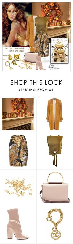 """Autumn Gold"" by frenchfriesblackmg ❤ liked on Polyvore featuring Improvements, Haider Ackermann, Rochas, Moschino, Salvatore Ferragamo and Kendall + Kylie"