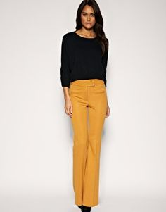 high waisted slim flares - ASOS