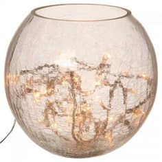 Fairy lights in vase - table lamps