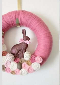 Easter Wreath - chocolate bunny :)