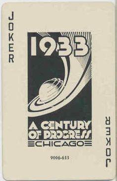 JOKER - 1933 Worlds Fair - 1 single playing cards