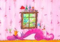 Ihastuttava kukkaniitty canvas-tapetti vaikkapa lastenhuoneeseen!Koko 160x100 cm