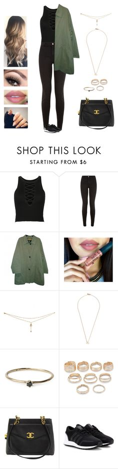 """Mino - body"" by kyndraxsvt ❤ liked on Polyvore featuring WithChic, New Look, Burberry, Shaun Leane, Satomi Kawakita, Forever 21, Chanel and adidas Originals"